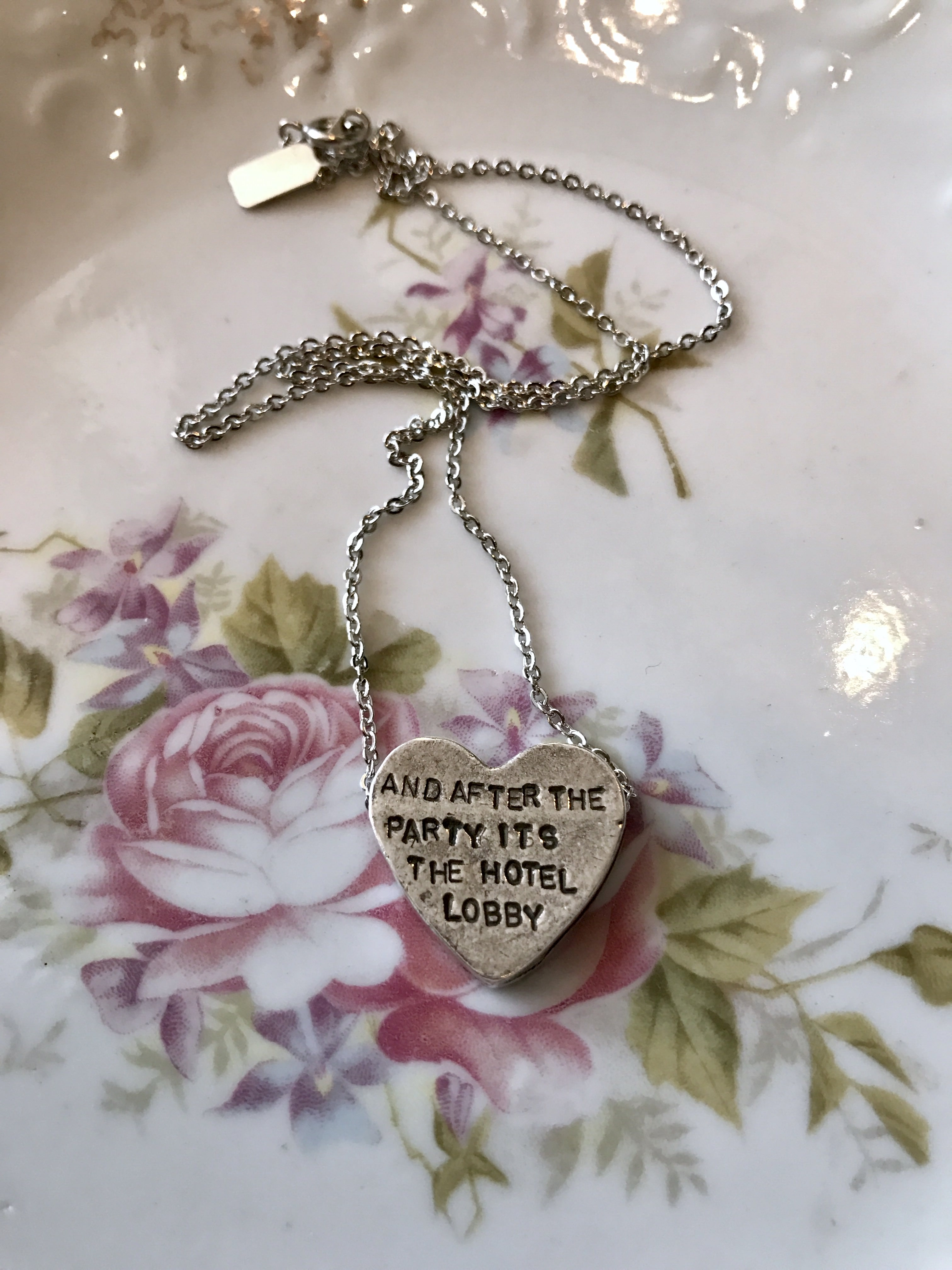 """""""and after the party…"""" heartbeats necklace"""